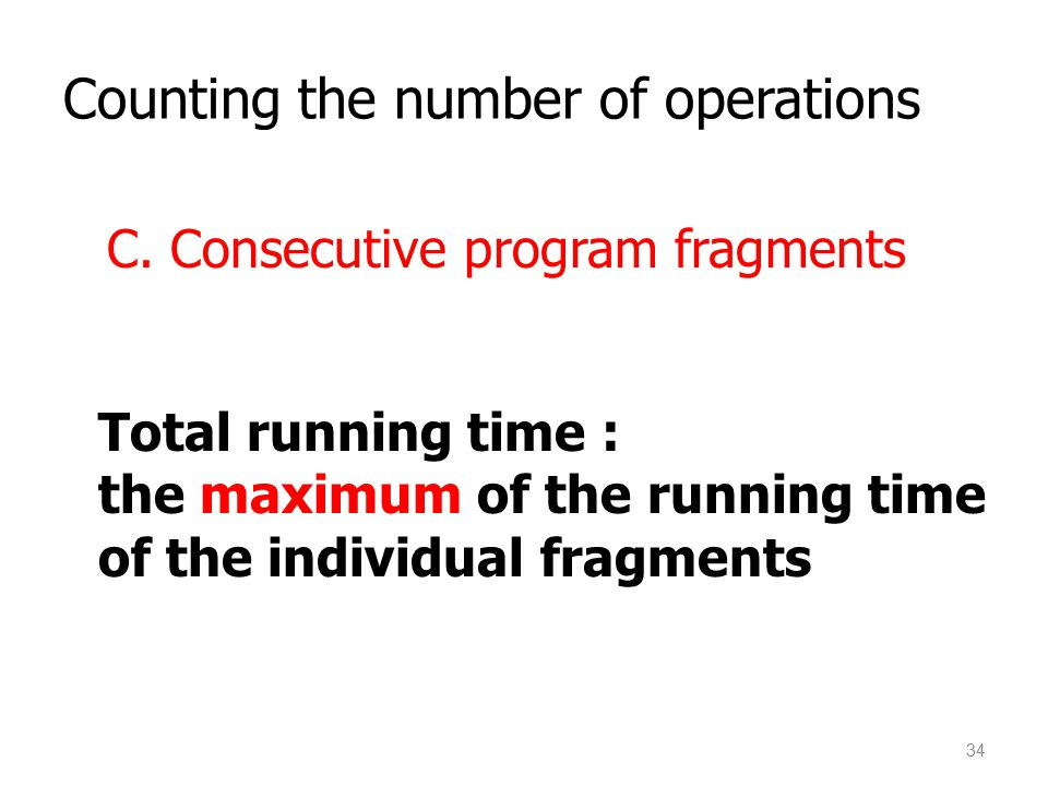 Counting the number of operations