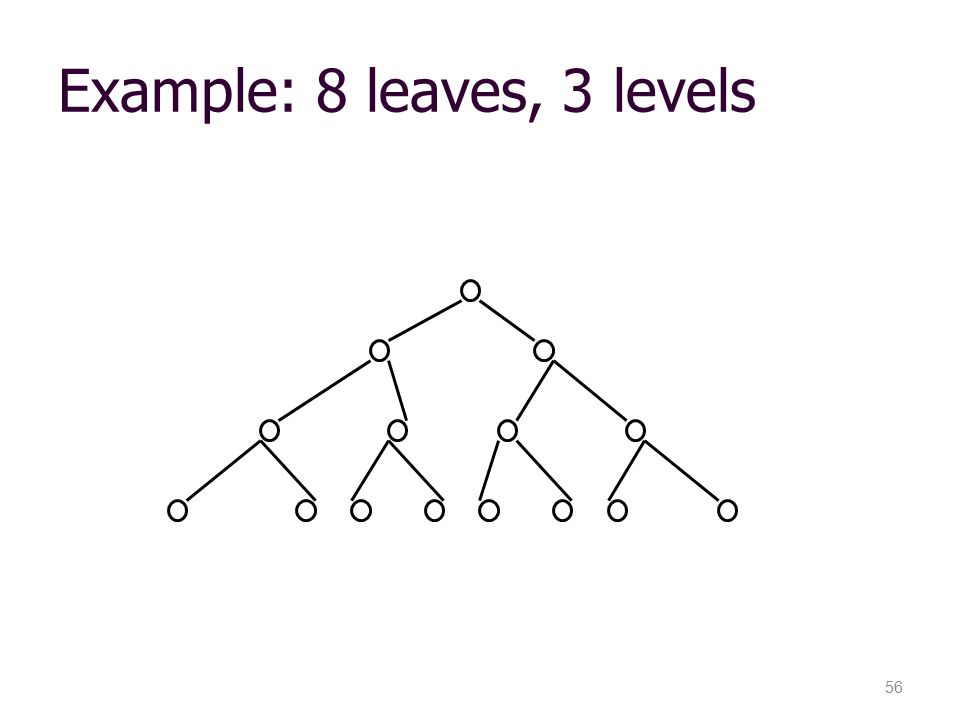 Example: 8 leaves, 3 levels