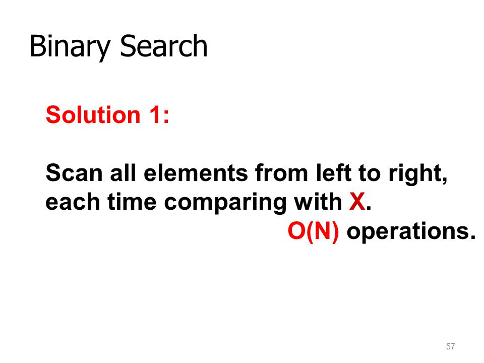 Binary Search Solution 1: