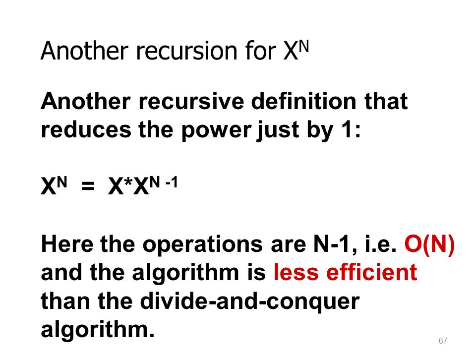 Another recursion for XN