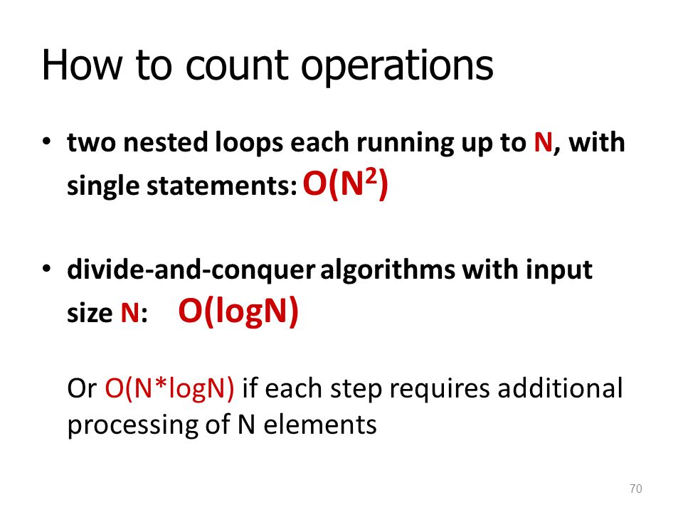 How to count operations