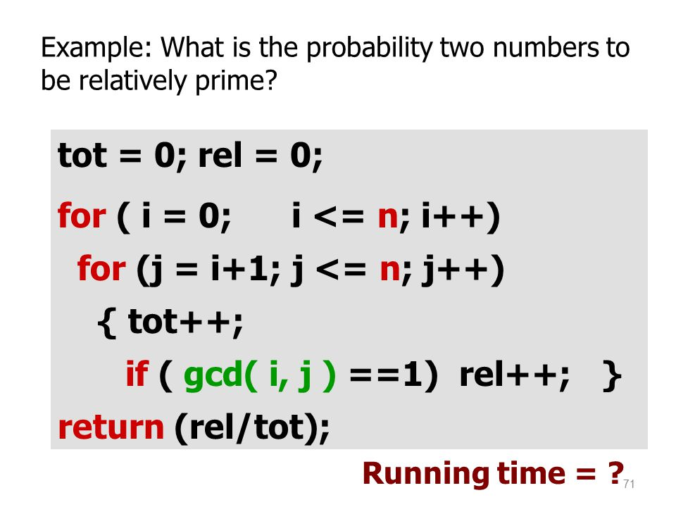 Example: What is the probability two numbers to be relatively prime