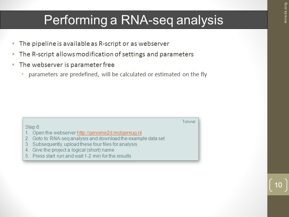 RNA-seq analysis case study Anne de Jong ppt video online