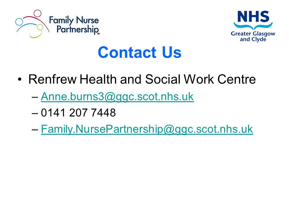 Contact Us Renfrew Health and Social Work Centre