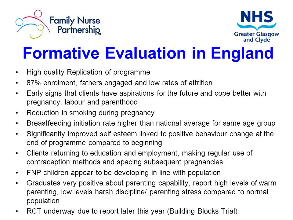 Formative Evaluation in England