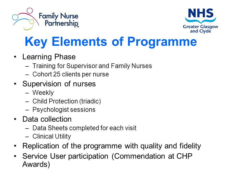 Key Elements of Programme