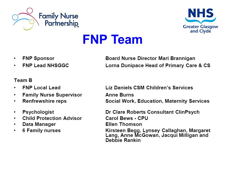 FNP Team FNP Sponsor Board Nurse Director Mari Brannigan