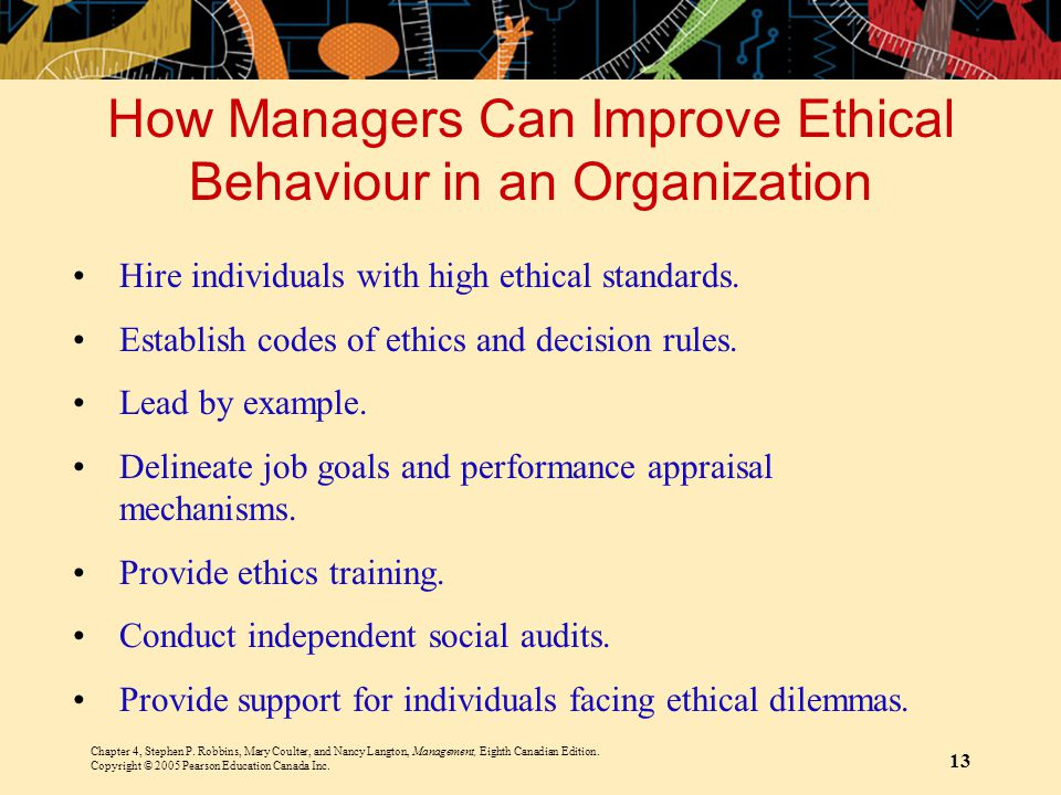 How Managers Can Improve Ethical Behaviour in an Organization