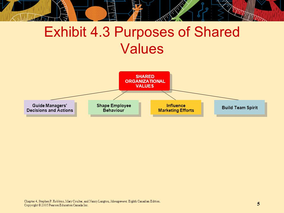 Exhibit 4.3 Purposes of Shared Values
