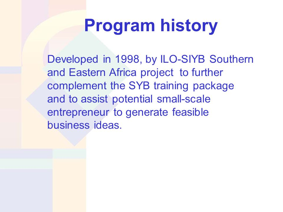 Generate Your Business Idea (GYB) training package - ppt download