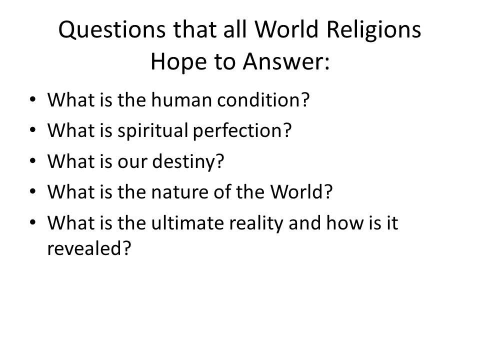 world religion topics