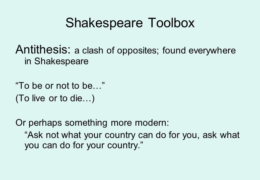 Shakespeare Toolbox Elision Feminine Endings Antithesis Puns
