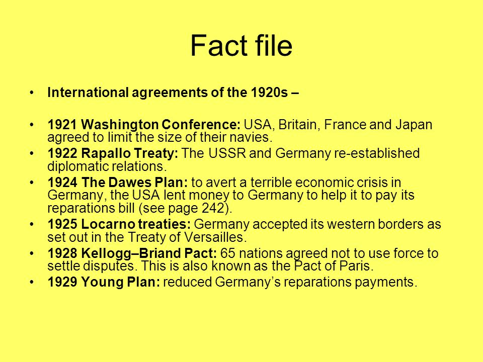 How Did International Agreements Help The Work Of The League Ppt