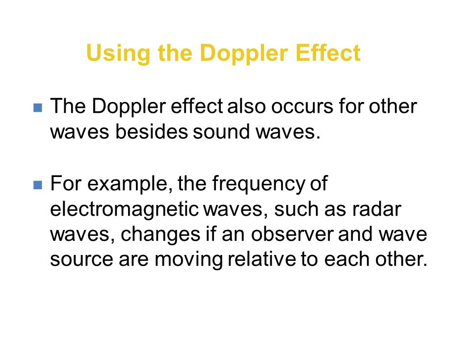 Using the Doppler Effect