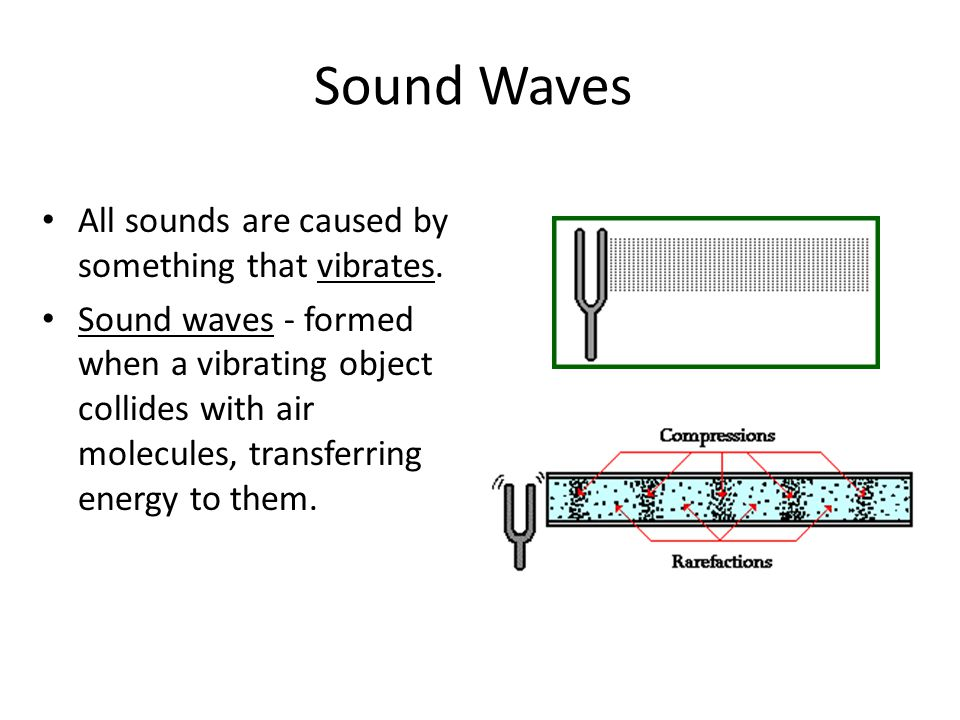 Sound Waves All sounds are caused by something that vibrates.