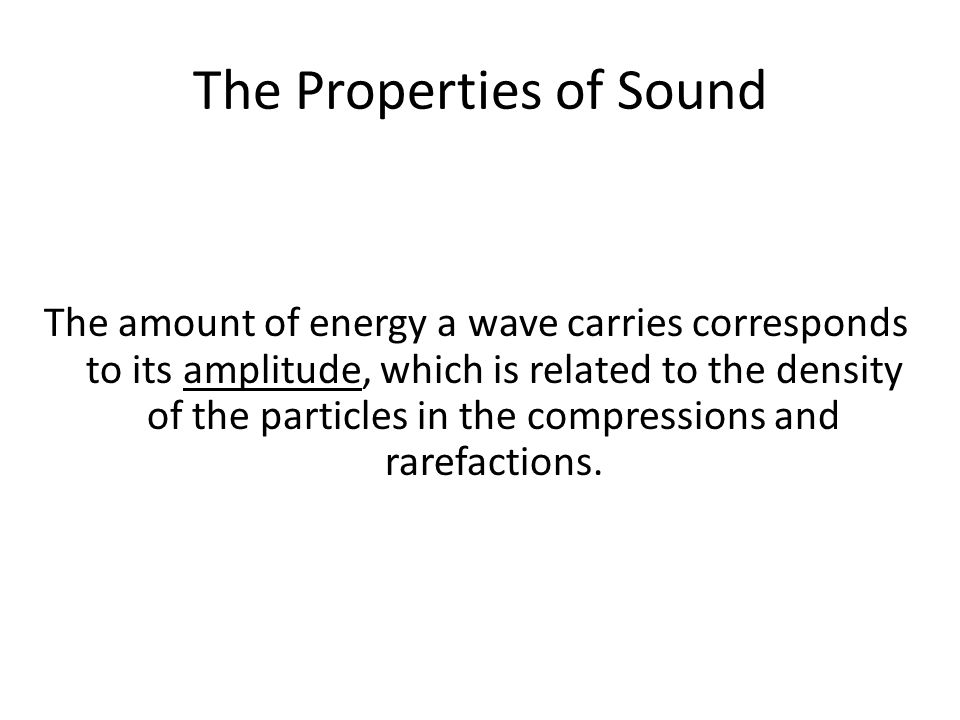The Properties of Sound