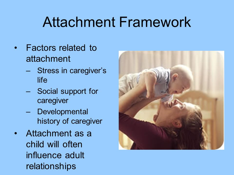 Attachment Framework Factors related to attachment