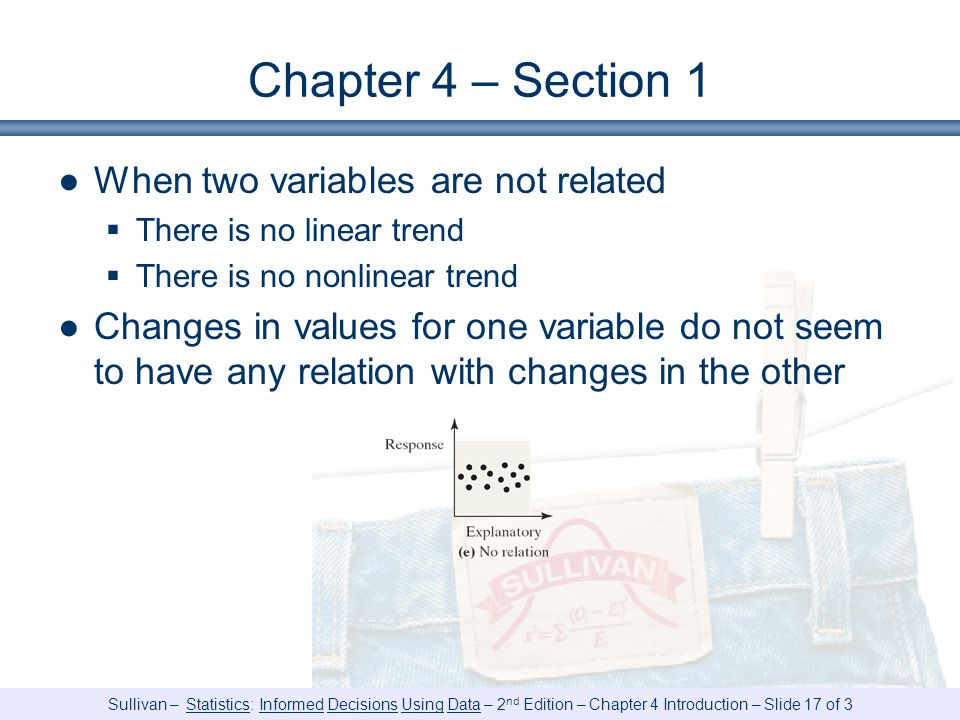 Chapter 4 – Section 1 When two variables are not related