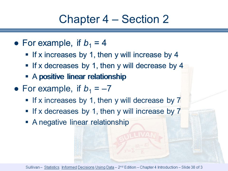 Chapter 4 – Section 2 For example, if b1 = 4 For example, if b1 = –7