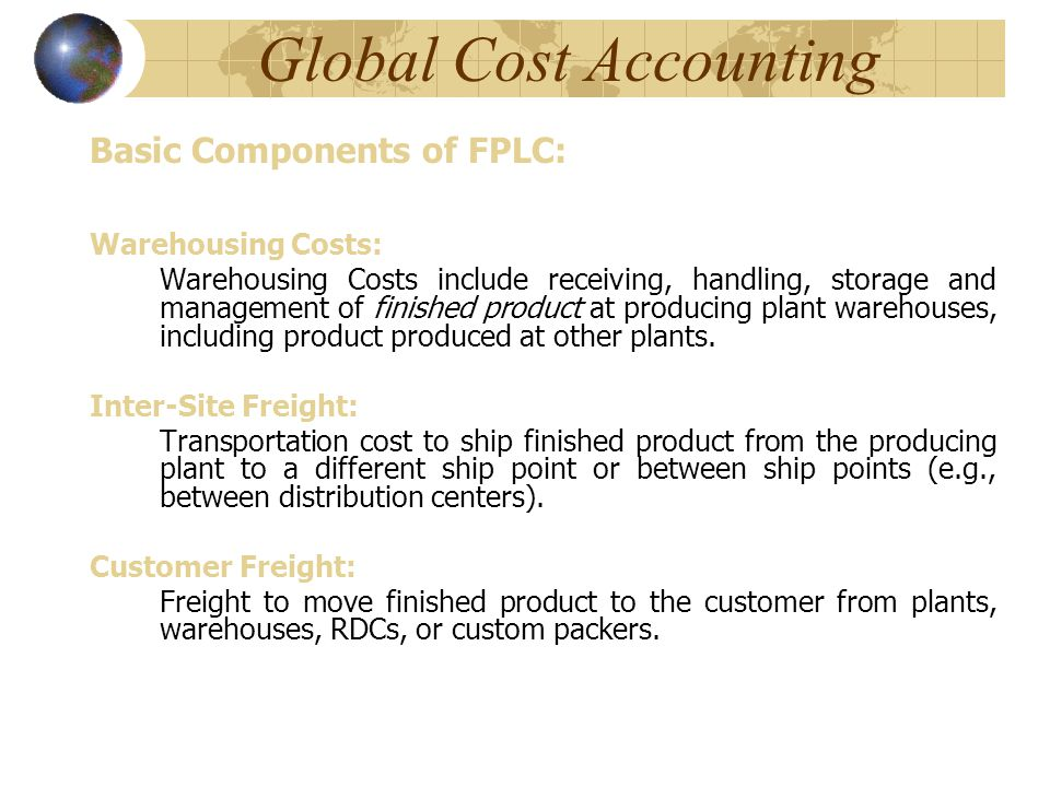 Global Cost Accounting - ppt video online download