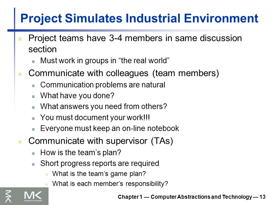 Morgan kaufmann publishers ppt download 13 project simulates industrial environment fandeluxe Image collections