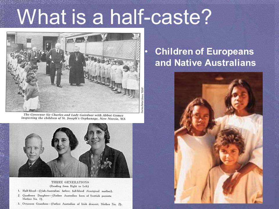 half caste australia