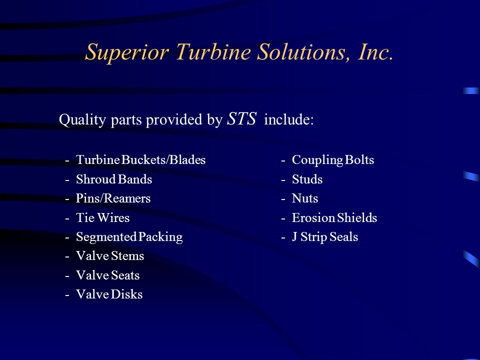 Superior Turbine Solutions, Inc.