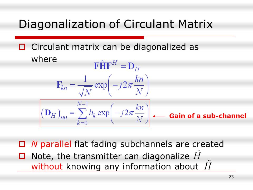 Diagonalization of Circulant Matrix