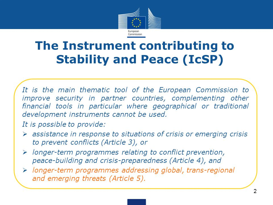 The Instrument contributing to Stability and Peace (IcSP)