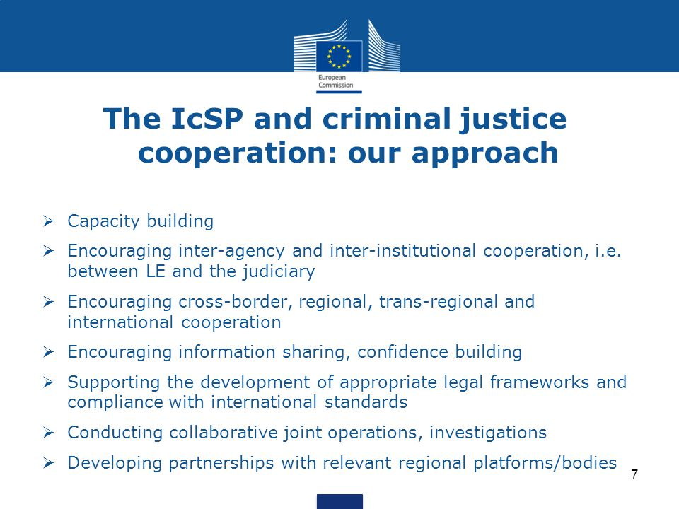The IcSP and criminal justice cooperation: our approach