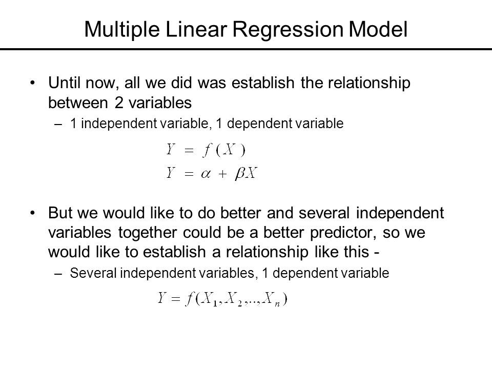 Multiple Linear Regression Model