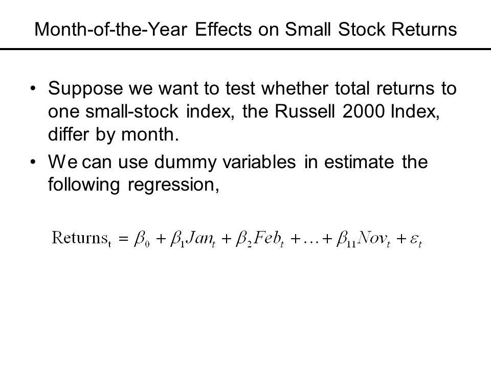 Month-of-the-Year Effects on Small Stock Returns