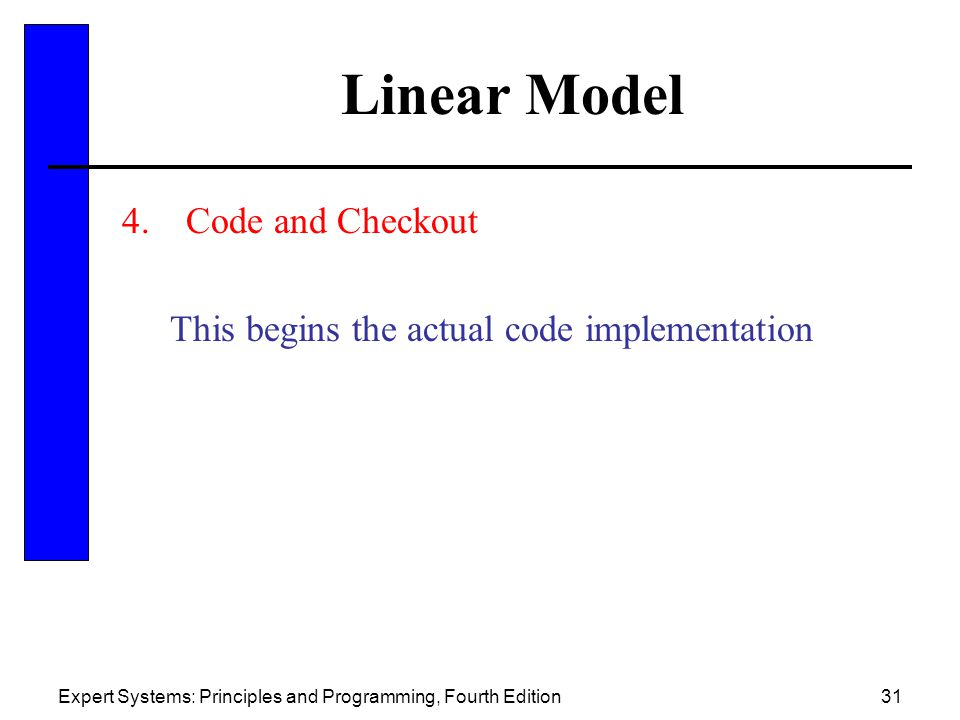 Linear Model Code and Checkout