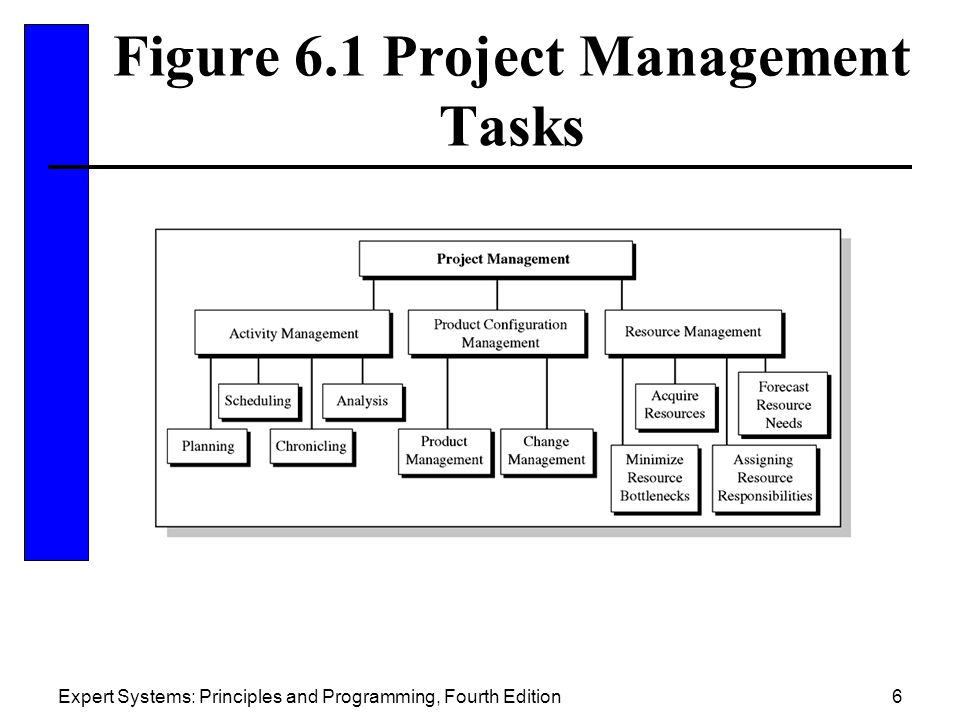 Figure 6.1 Project Management Tasks