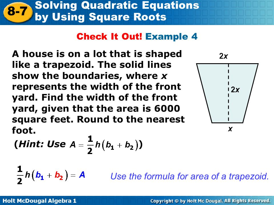 Use the formula for area of a trapezoid.
