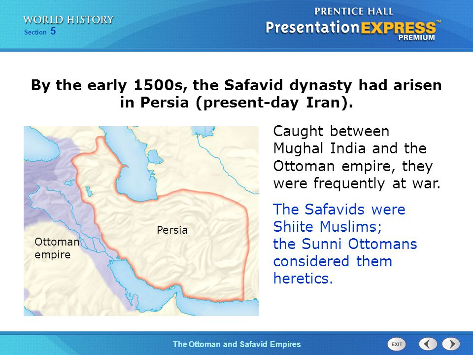 ottoman turkey safavid persia and mughal The ottoman, safavid, and mughal dynasties established control over turkey, iran, and india respectively, in large part due to a chinese invention - gunpowder in large part, the successes of the western empires depended on advanced firearms and cannons.