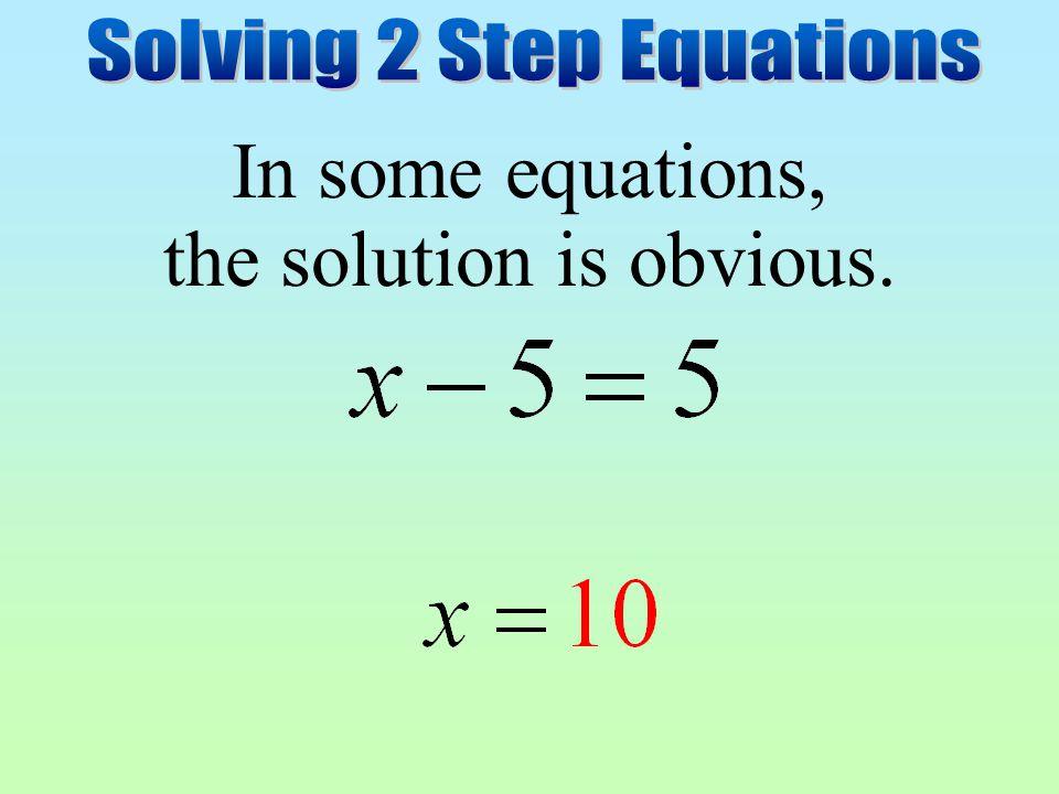Solving 2 Step Equations - ppt video online download