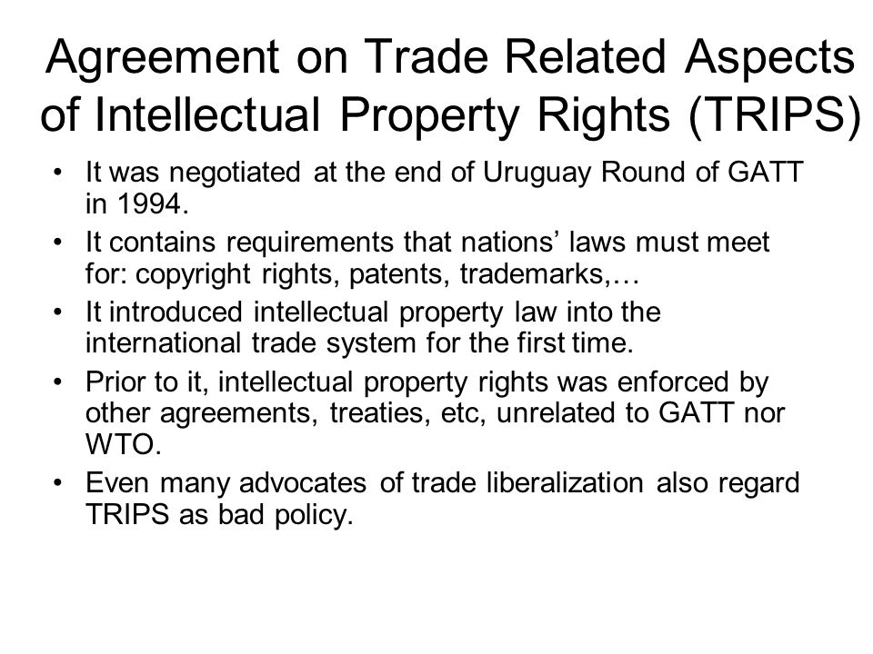 Trade Related Aspects Of Intellectual Property Rights Trips Pdf