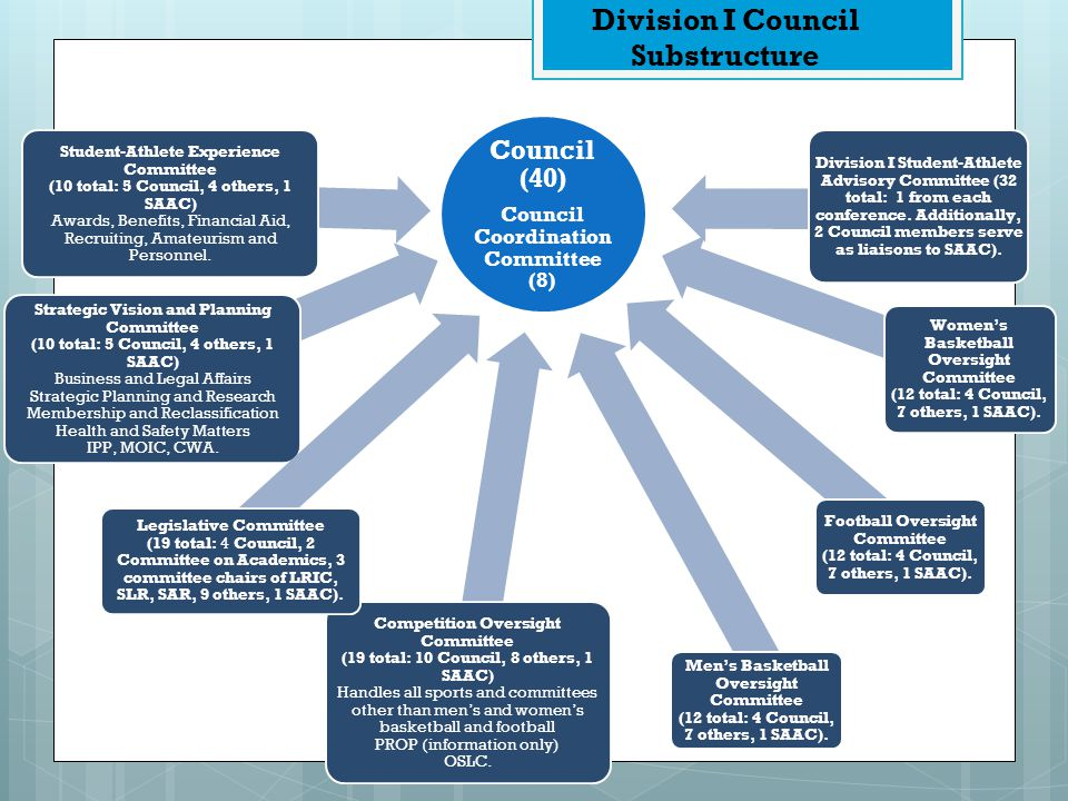 Division I Council Substructure