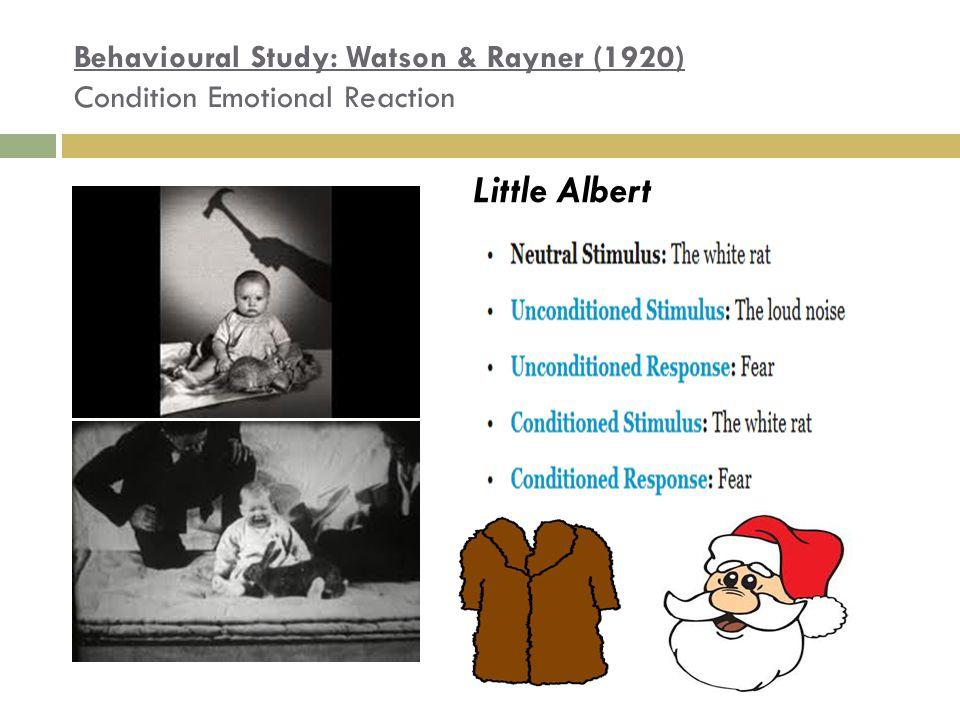 watson and rayners study of little albert