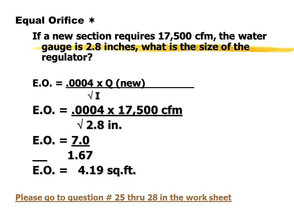What Is Cfm >> Ventilation Program Day Ii Ppt Download