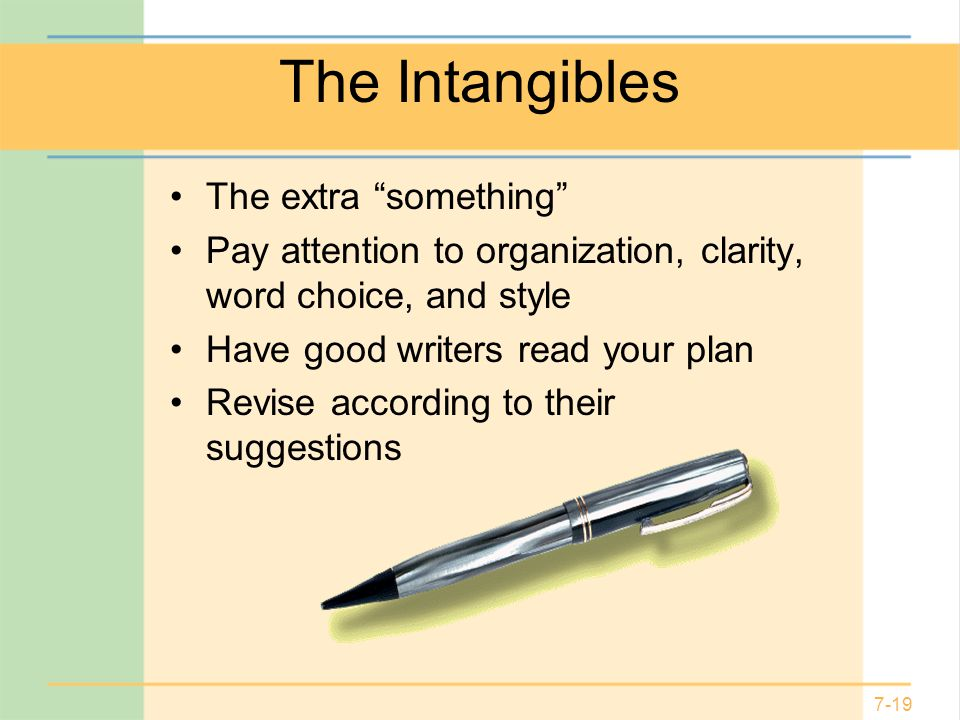 The Intangibles The extra something