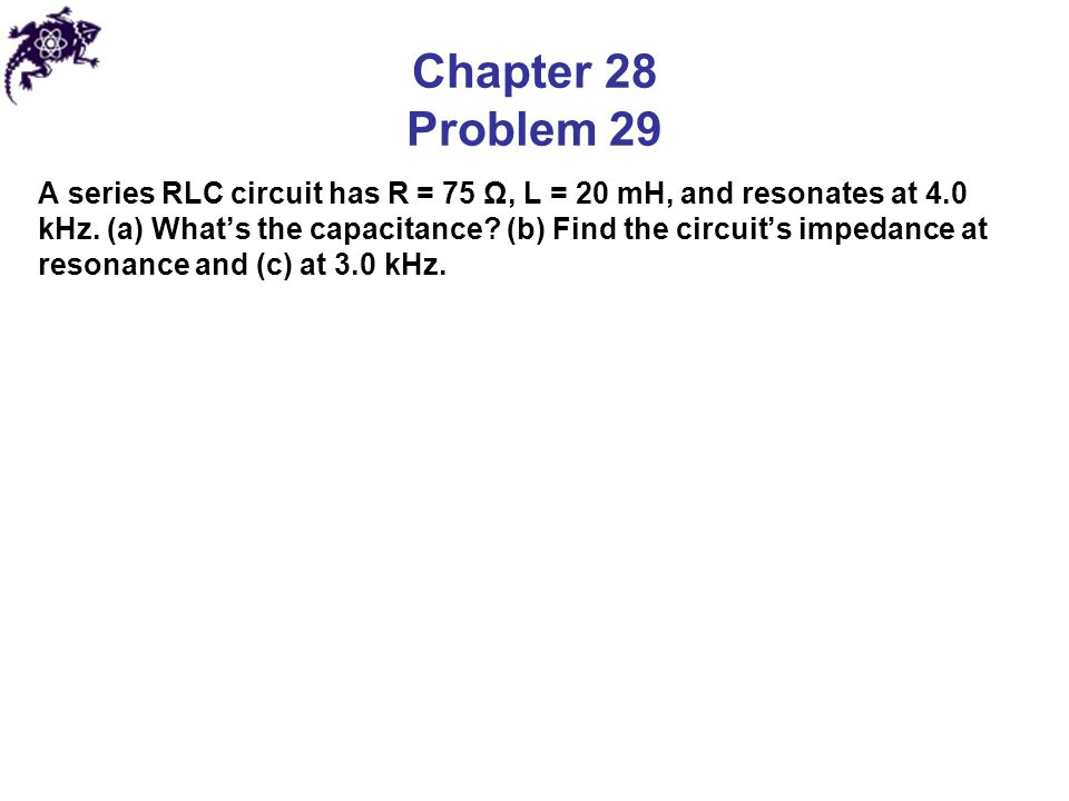 Chapter 28 Problem 29