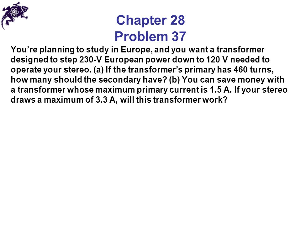 Chapter 28 Problem 37