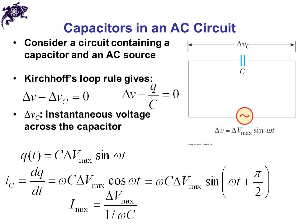 Capacitors in an AC Circuit