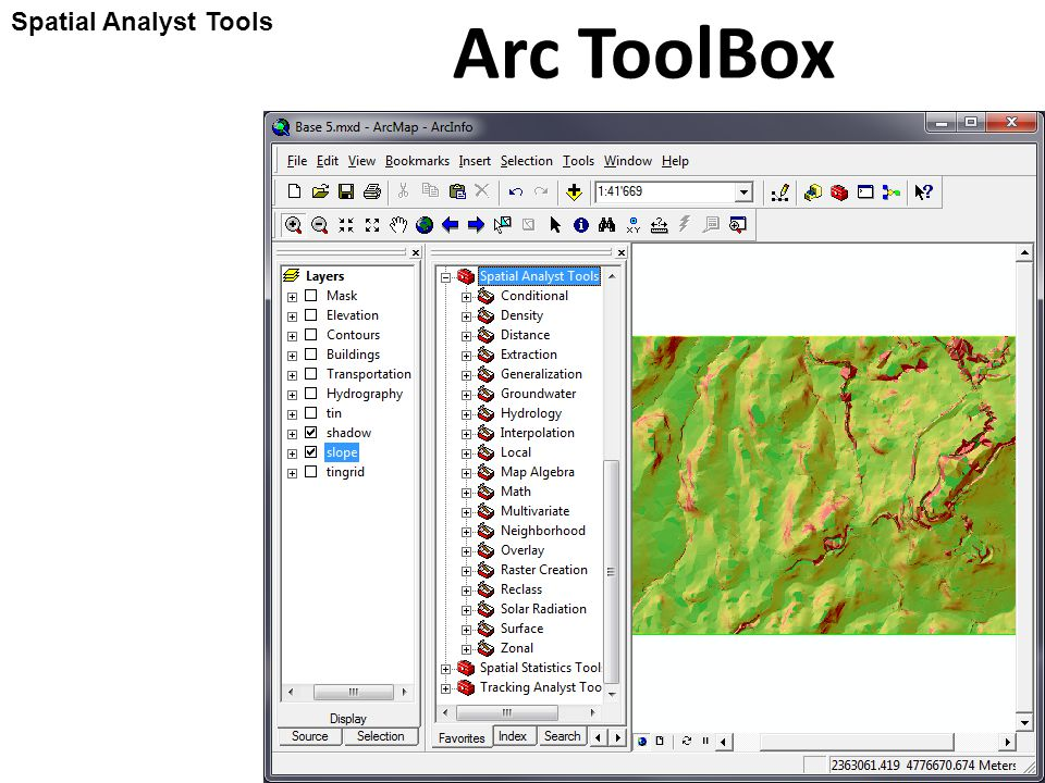 Using ESRI ArcGIS 9 3 Arc ToolBox 3 (Spatial Analyst) - ppt