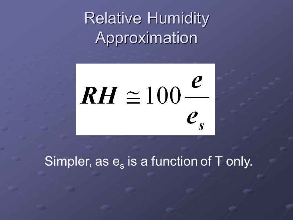 Relative Humidity Approximation