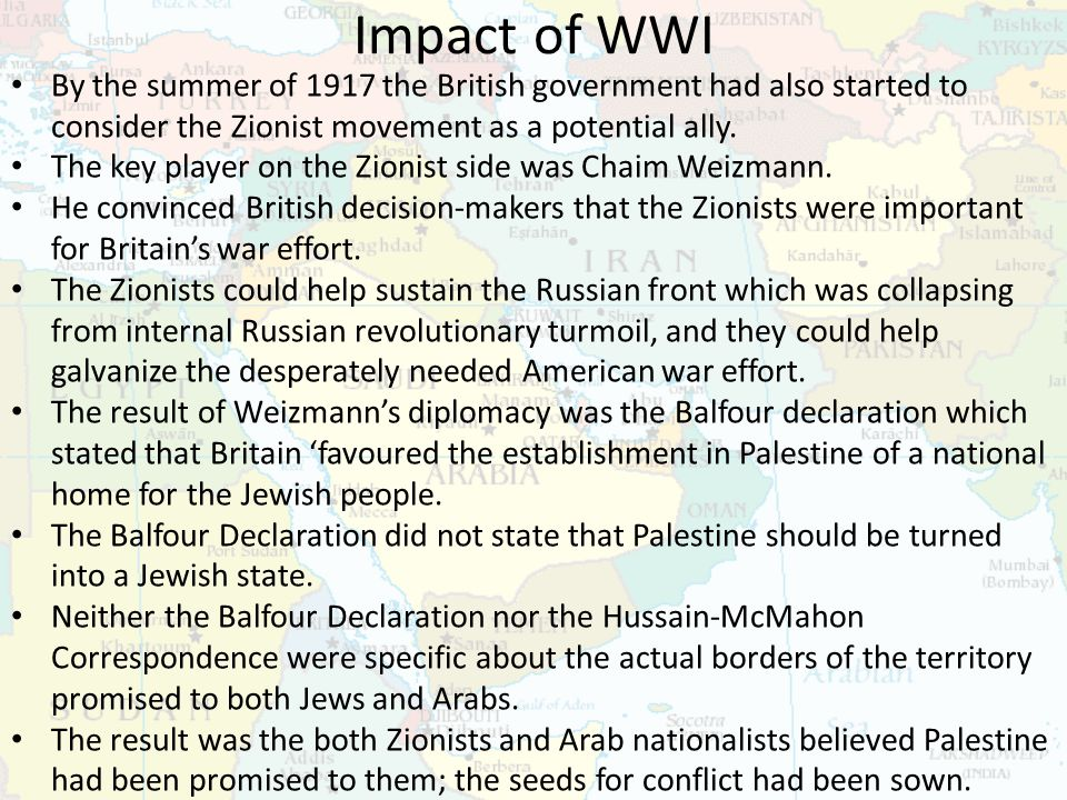 Zionism And Arab Nationalism Ppt Download