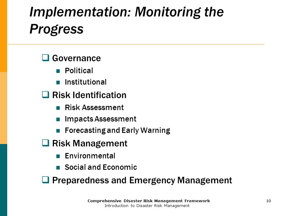Implementation: Monitoring the Progress