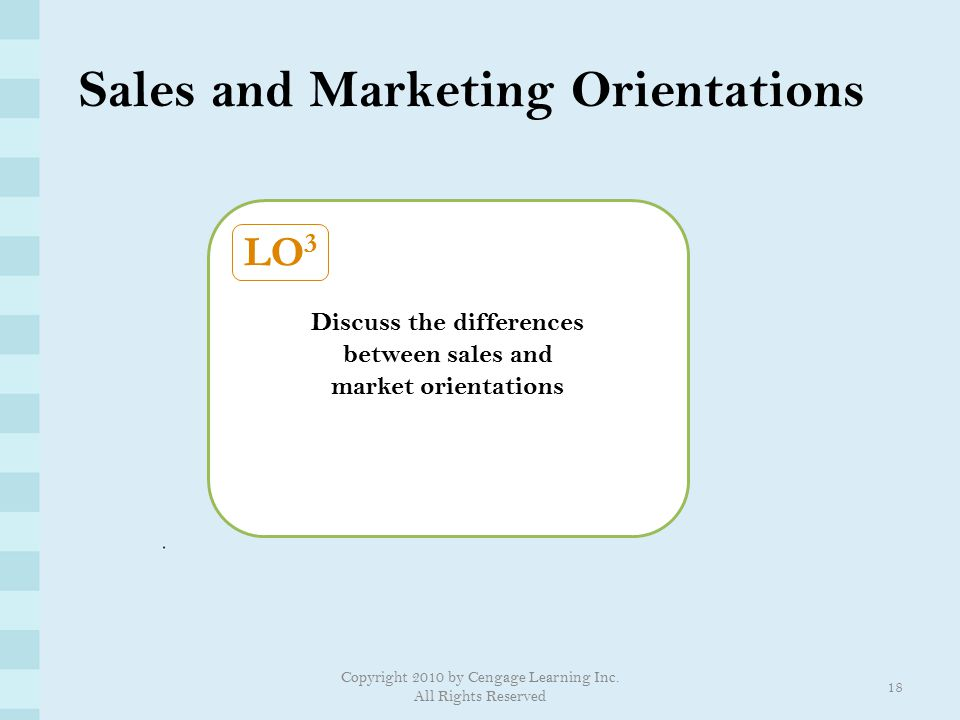 Sales and Marketing Orientations